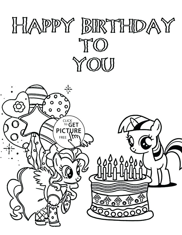 Happy Birthday Balloons Coloring Pages At GetDrawings