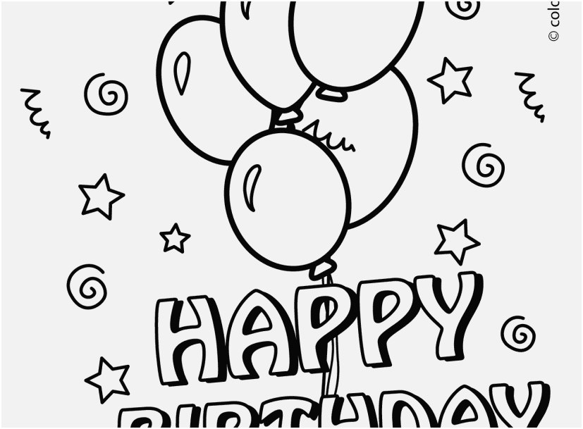 827x609 A Good Image Free Birthday Coloring Pages Wonderful