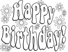 236x179 Happy Birthday Coloring Pages With Balloons For Kids Coloring