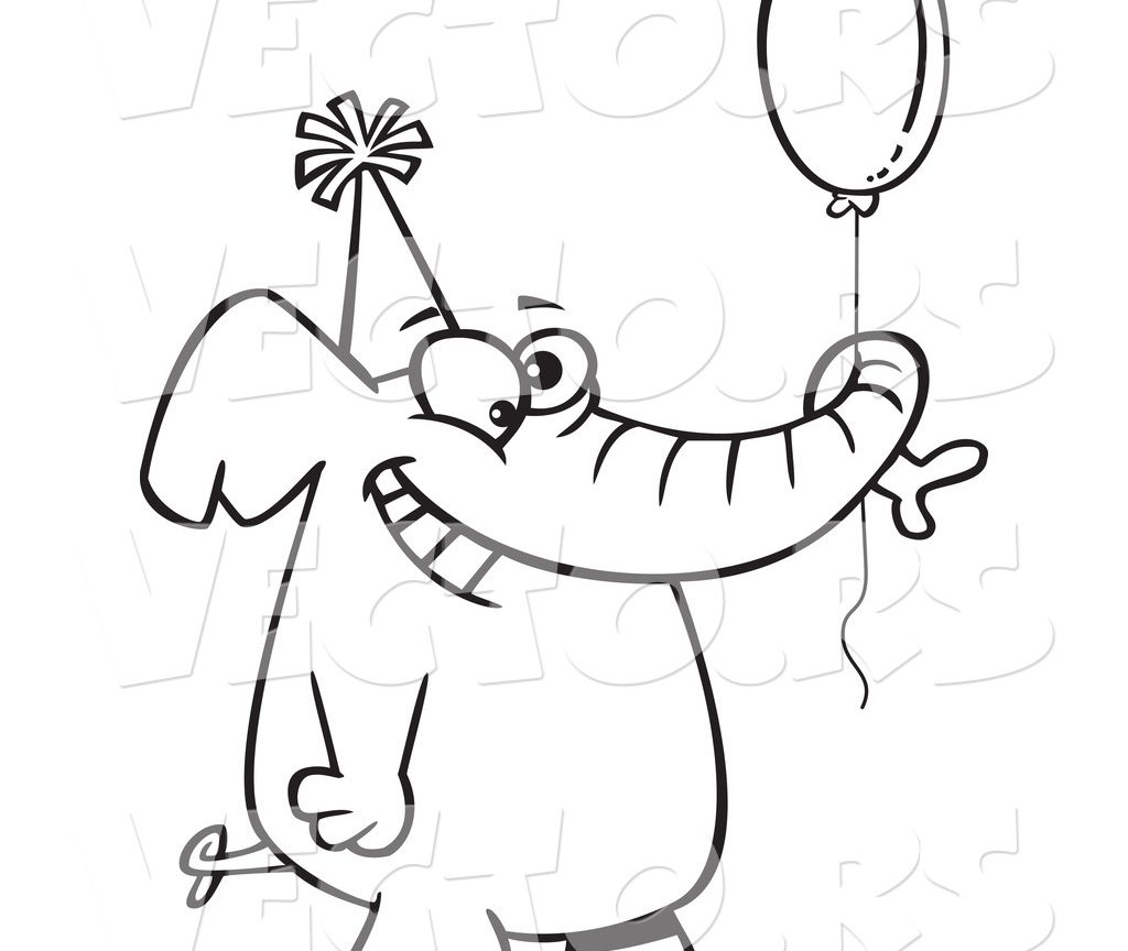 1024x864 Birthday Balloons Coloring Page