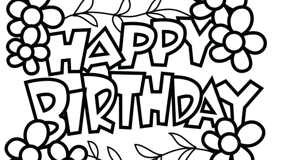 960x544 Balloons Coloring Page Happy Birthday Balloons Coloring Page