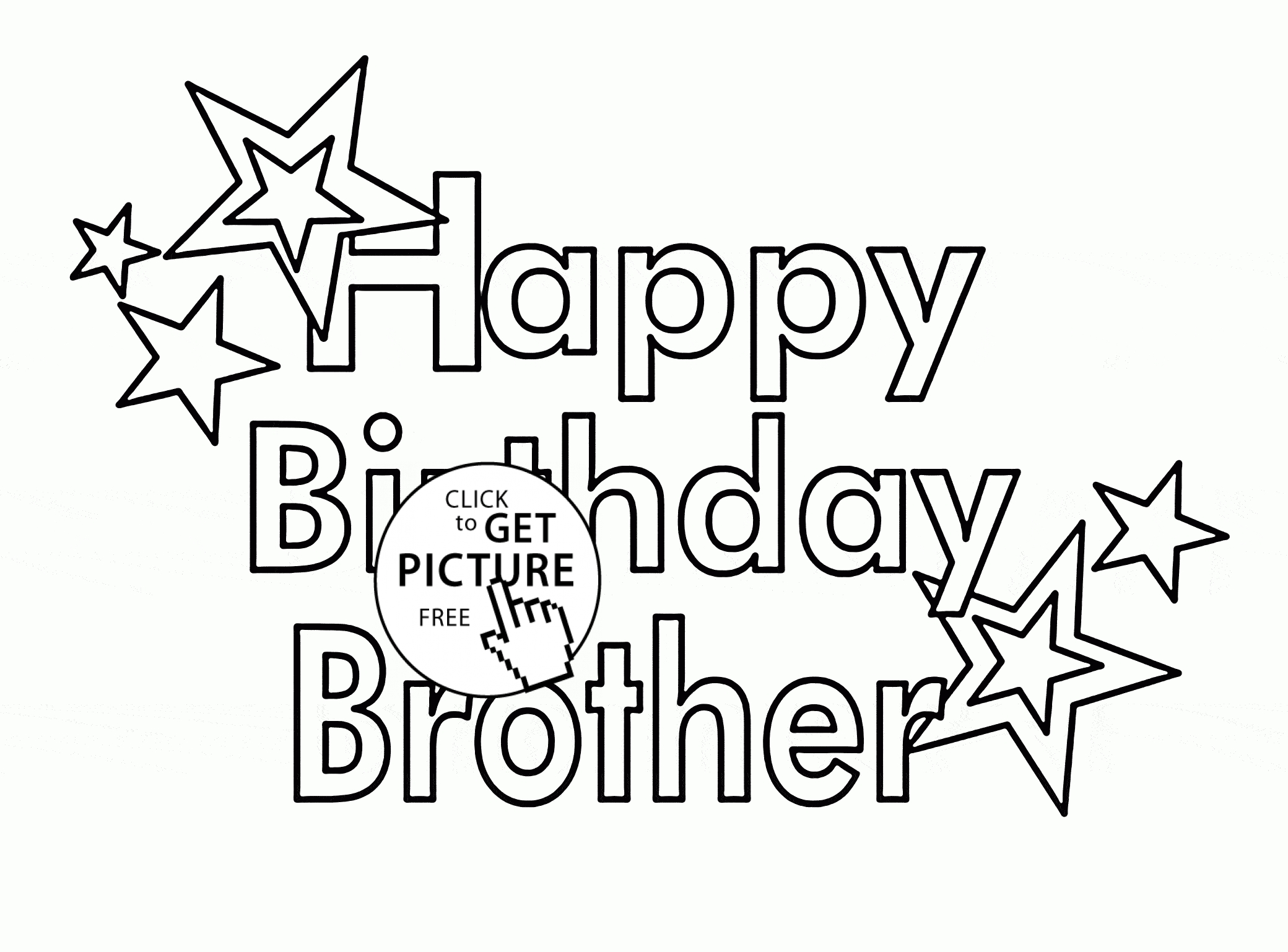 2080x1537 Free Birthday Coloring Pages Pictures Free Coloring Pages