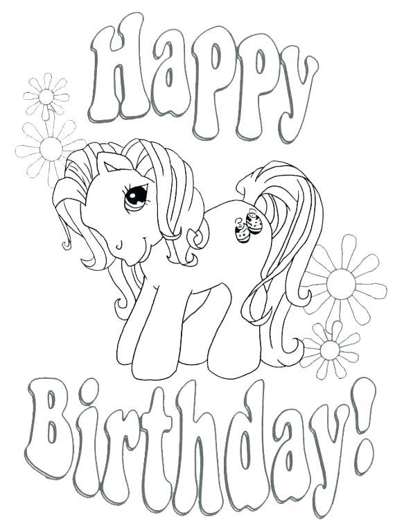 583x755 Happy Birthday Color Pages Free Printable Coloring Happy Birthday