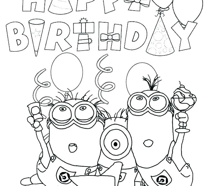 670x600 Happy Birthday Coloring Sheets Happy Birthday Coloring Pages Free