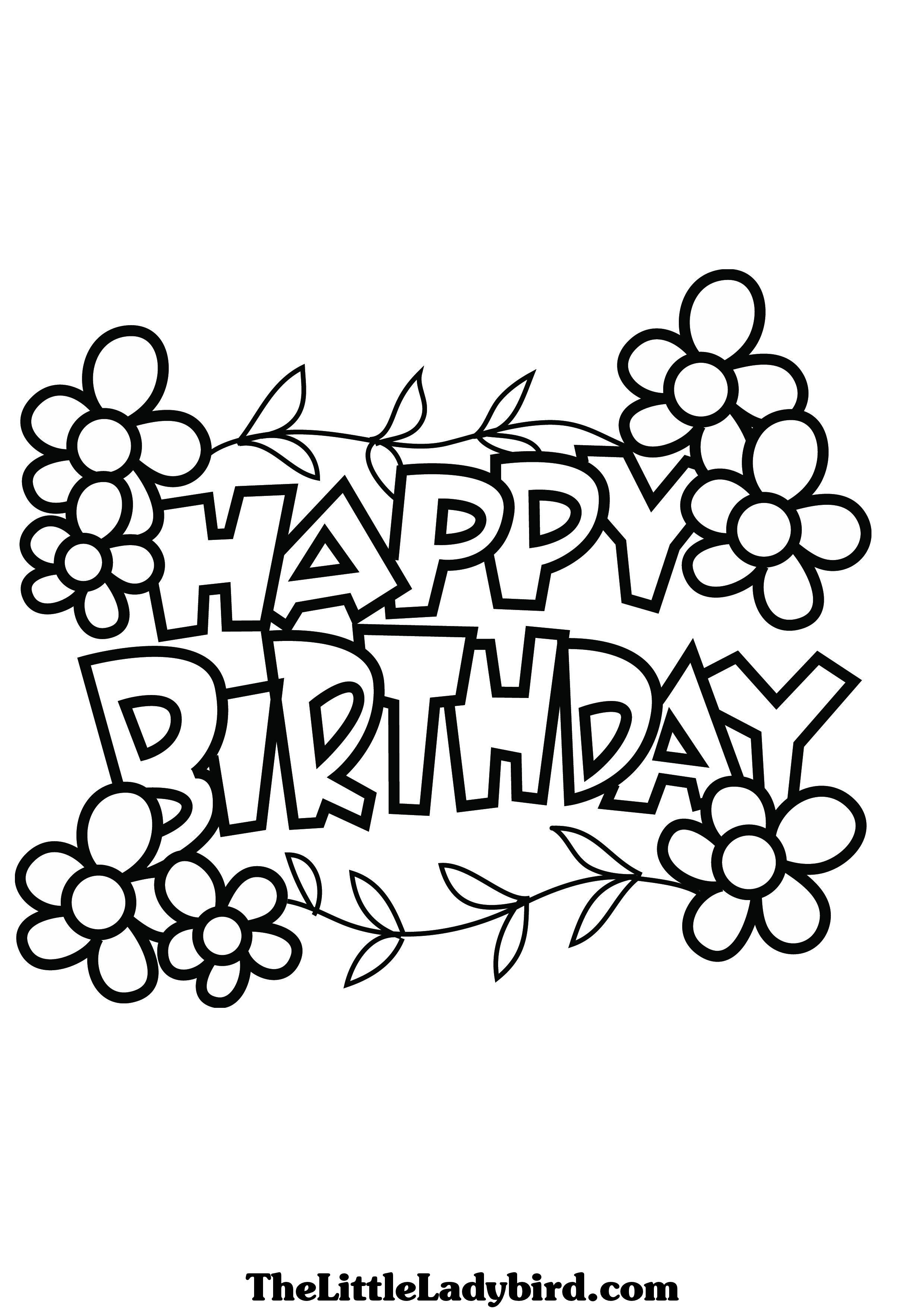 2480x3508 New Coloring Pages Happy Birthday