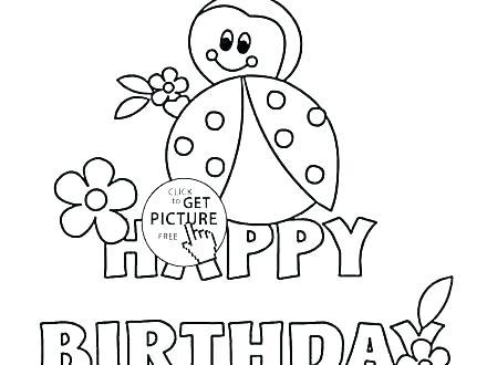 440x330 Happy Birthday Dinosaur Coloring Page Deepart