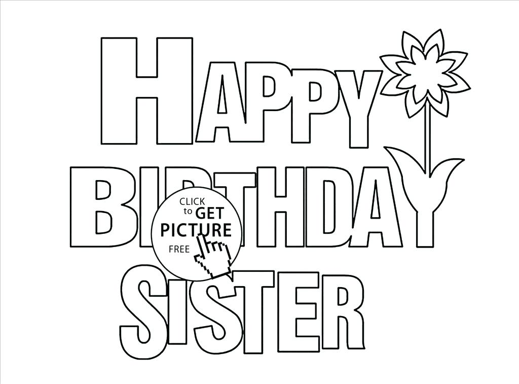 1024x757 Big Sister Coloring Pages Coloring Pages Related Happy Birthday