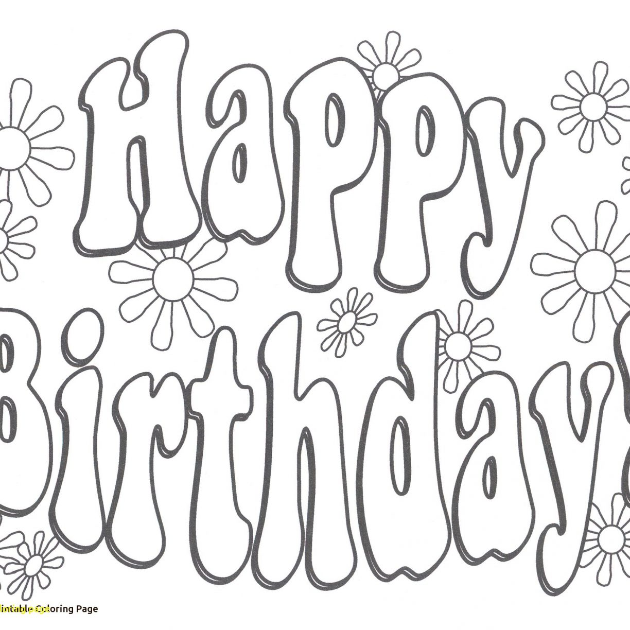 1224x1224 Clever Happy Birthday Coloring Page Pagesor Teacherree Printable