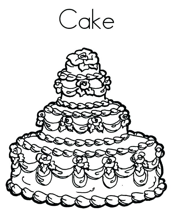 600x776 Birthday Cake Pictures To Color Free Coloring Pages Birthday Cake