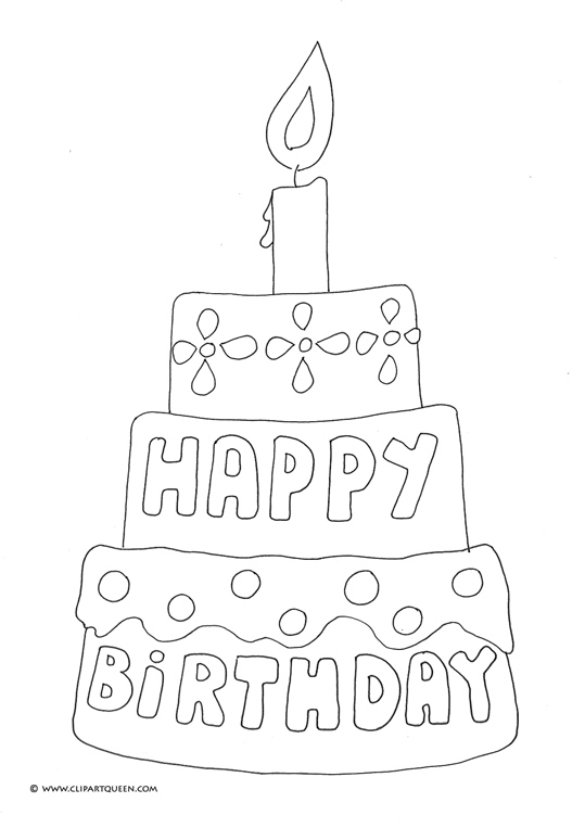 539x763 Birthday Coloring Pages