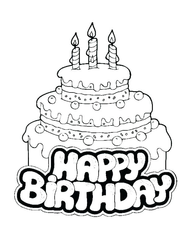 618x799 Blank Birthday Cake Coloring Page Birthday Cake Coloring Pages