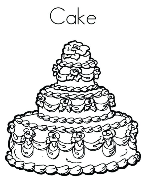 580x707 Blank Birthday Cake Coloring Page Coloring Pages Birthday Birthday