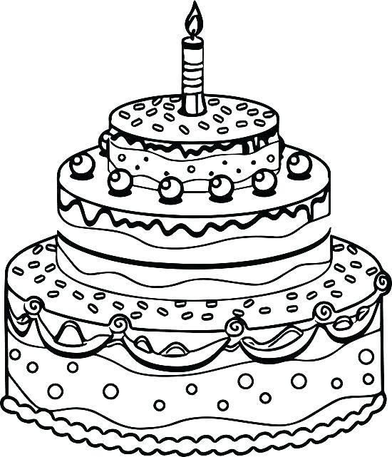 550x641 Coloring Page Birthday Cake Girls Coloring Page A Little Girl