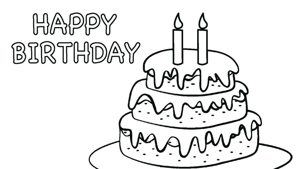 960x544 Coloring Pages Of Happy Birthday Happy Birthday Coloring Page