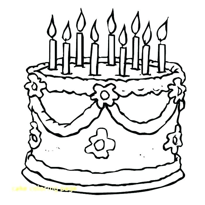 700x700 Happy Birthday Cake Coloring Page Coloring Page Birthday Cake