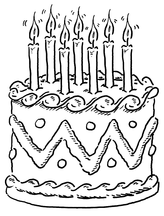 568x750 Beautiful Happy Birthday Cake Coloring Pages Gallery Diy
