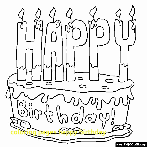 560x560 Birthday Cake Coloring Page Awesome Birthday Drawing For Kids