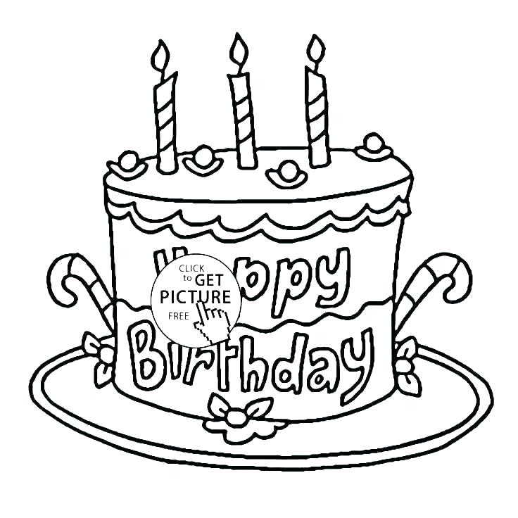 736x736 Birthday Cake Coloring Page Happy Birthday Cake Coloring Page S S
