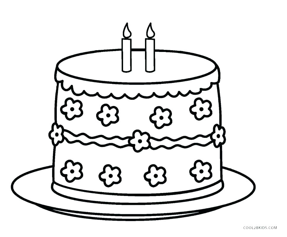970x803 Birthday Cake Coloring Pages Birthday Cake Coloring Pages