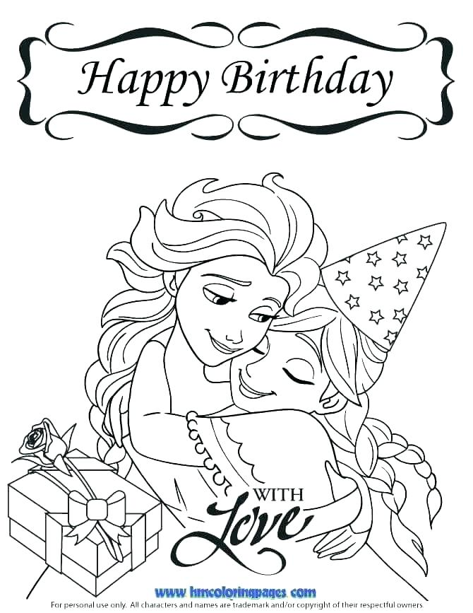 670x867 Free Printable Happy Birthday Coloring Pages Birthday Cards