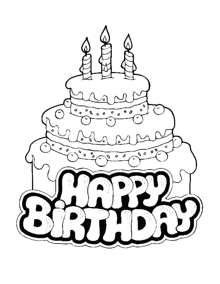 736x951 Free Printable Happy Birthday Coloring Pages Happy Birthday