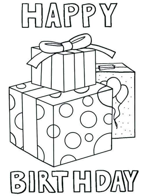500x673 Happy Birthday Card Free Printable Coloring Pages For Birthday