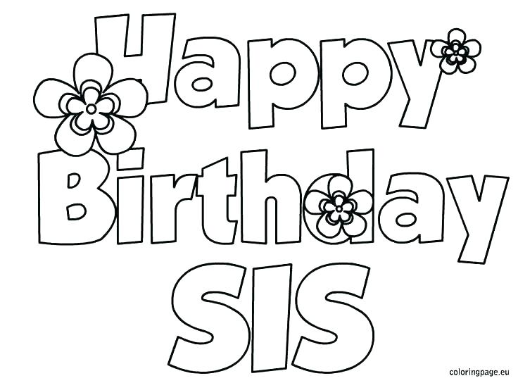 736x544 Printable Birthday Cards To Color For Grandma Happy Birthday Card