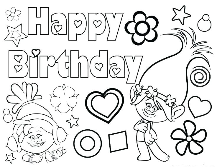 graphic regarding Printable Coloring Birthday Cards referred to as Joyful Birthday Card Printable Coloring Webpages at GetDrawings