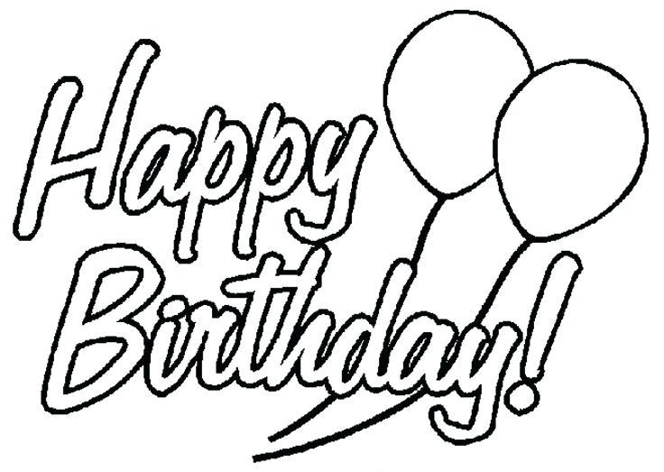 736x523 Printable Coloring Birthday Cards Card Happy Birthday Cards Happy