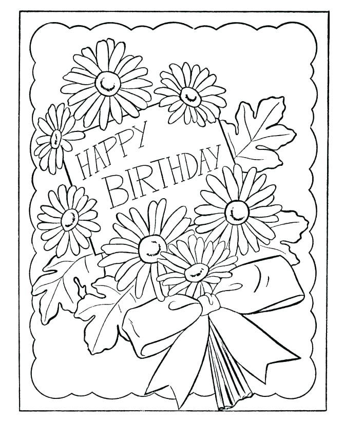 670x820 Printable Coloring Birthday Cards Printable Coloring Birthday