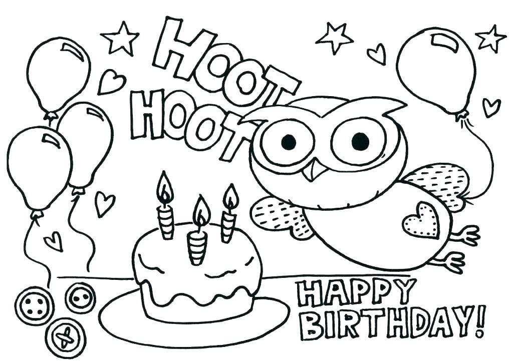 1024x727 Happy Birthday Card Printable Coloring Pages