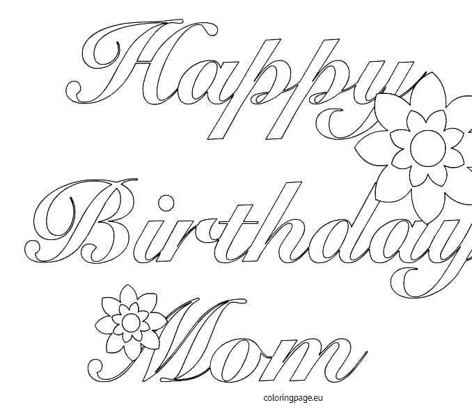 image about Printable Birthday Cards for Mom titled Satisfied Birthday Card Printable Coloring Web pages at GetDrawings