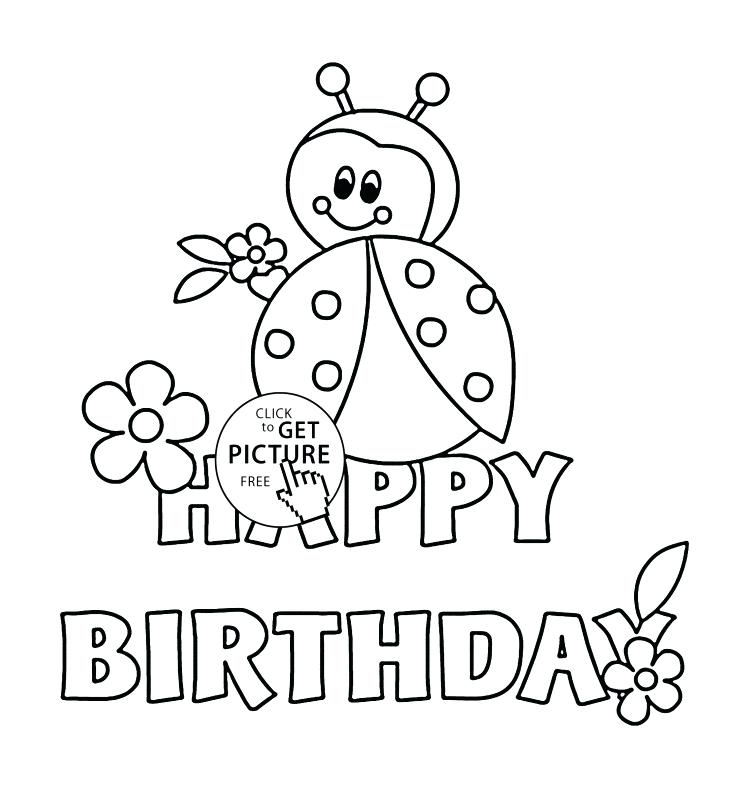 picture relating to Printable Coloring Birthday Cards called Joyful Birthday Card Printable Coloring Internet pages at GetDrawings
