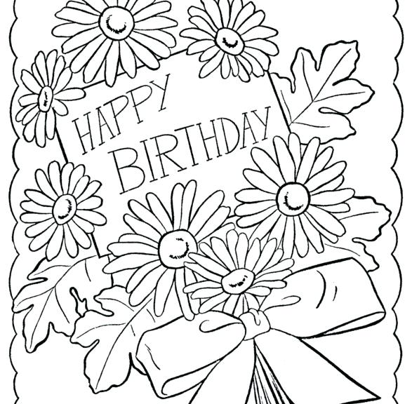 587x576 Coloring Pages Of Happy Birthday Birthday Color Page Happy