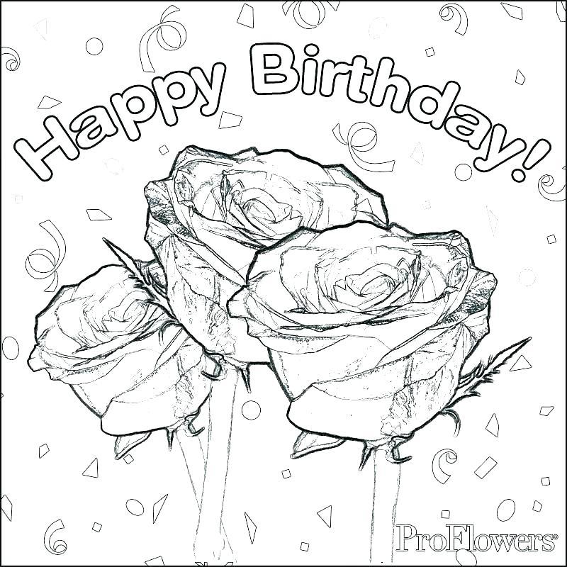 800x800 Birthday Card Coloring Page Happy Birthday Card Printable Color