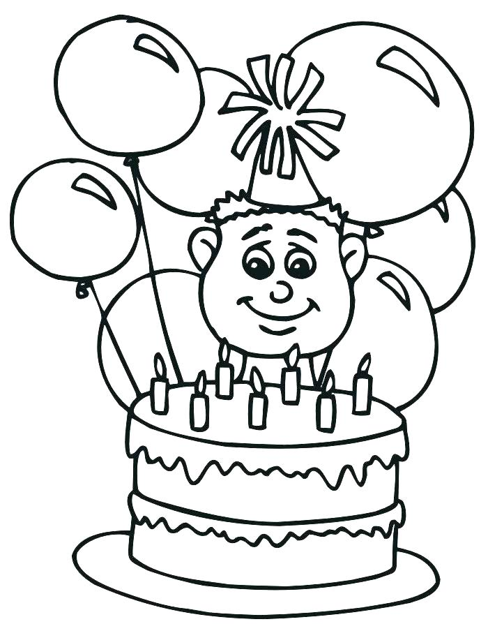 700x894 Happy Birthday Card Coloring Pages Free Printable Happy Birthday