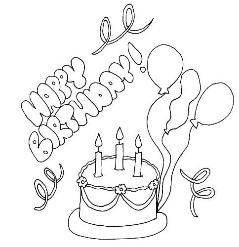 484x500 Happy Birthday Coloring Sheet Happy Birthday Coloring Sheet