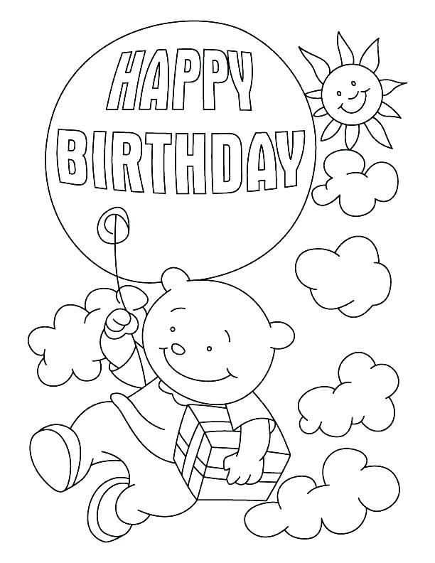 612x792 Happy Birthday Grandma Coloring Page Birthday Card Coloring Page