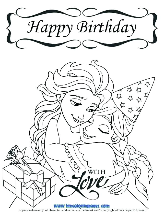 670x867 Happy Birthday Grandma Coloring Page Birthday Card Coloring Pages