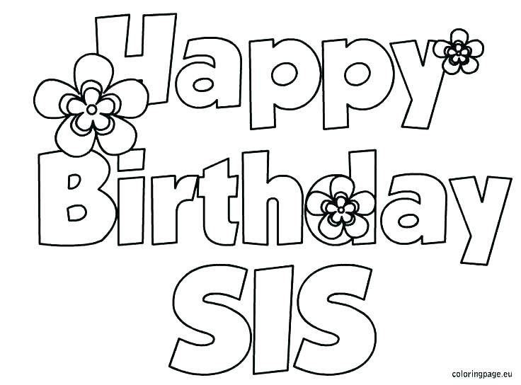 736x544 Printable Coloring Pages Birthday Birthday Coloring Cards Happy