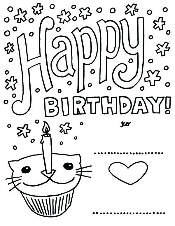 600x775 Printable Coloring Birthday Cards