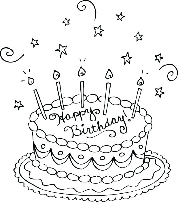 618x701 Birthday Cards Coloring Pages Amazing Happy Birthday Cards