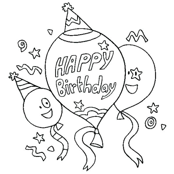 600x600 Birthday Coloring Pages Free Happy Birthday Coloring Pages Free