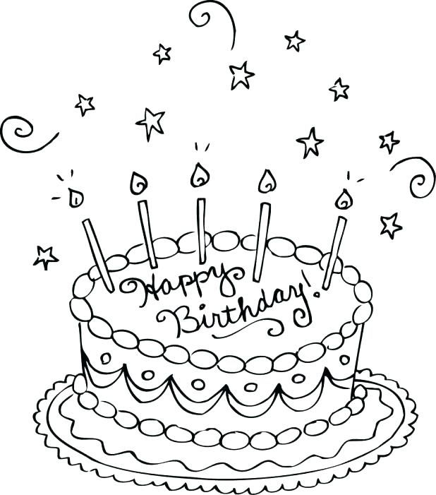618x701 Happy Birthday Coloring Pages Hello Kitty Happy Birthday Coloring