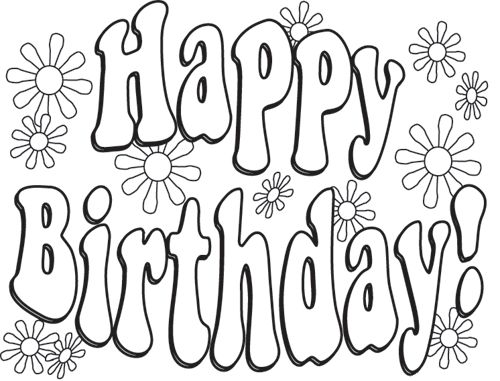 500x381 Happy Birthday Colouring Pictures Best Birthday Coloring Pages