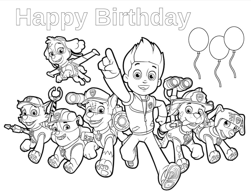 1000x774 Paw Patrol Birthday Paw Patrol Birthday, Paw Patrol And Happy