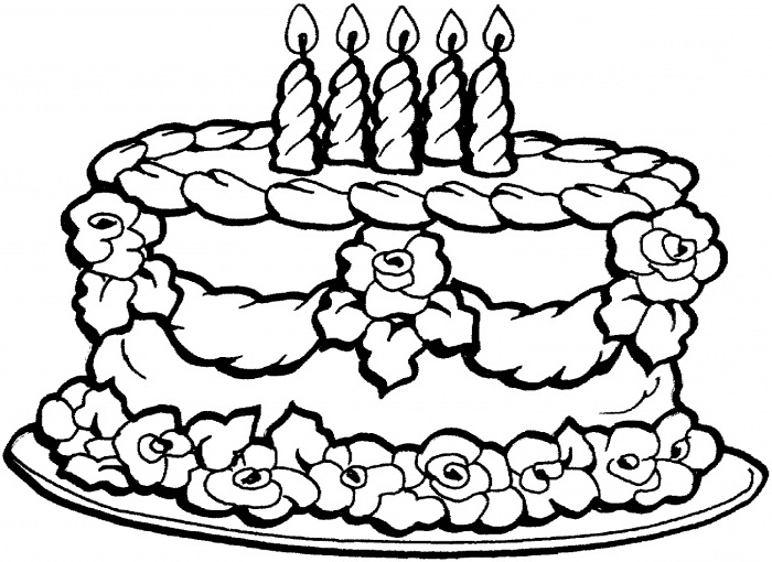 700x510 Big Happy Birthday Coloring Page For Kids