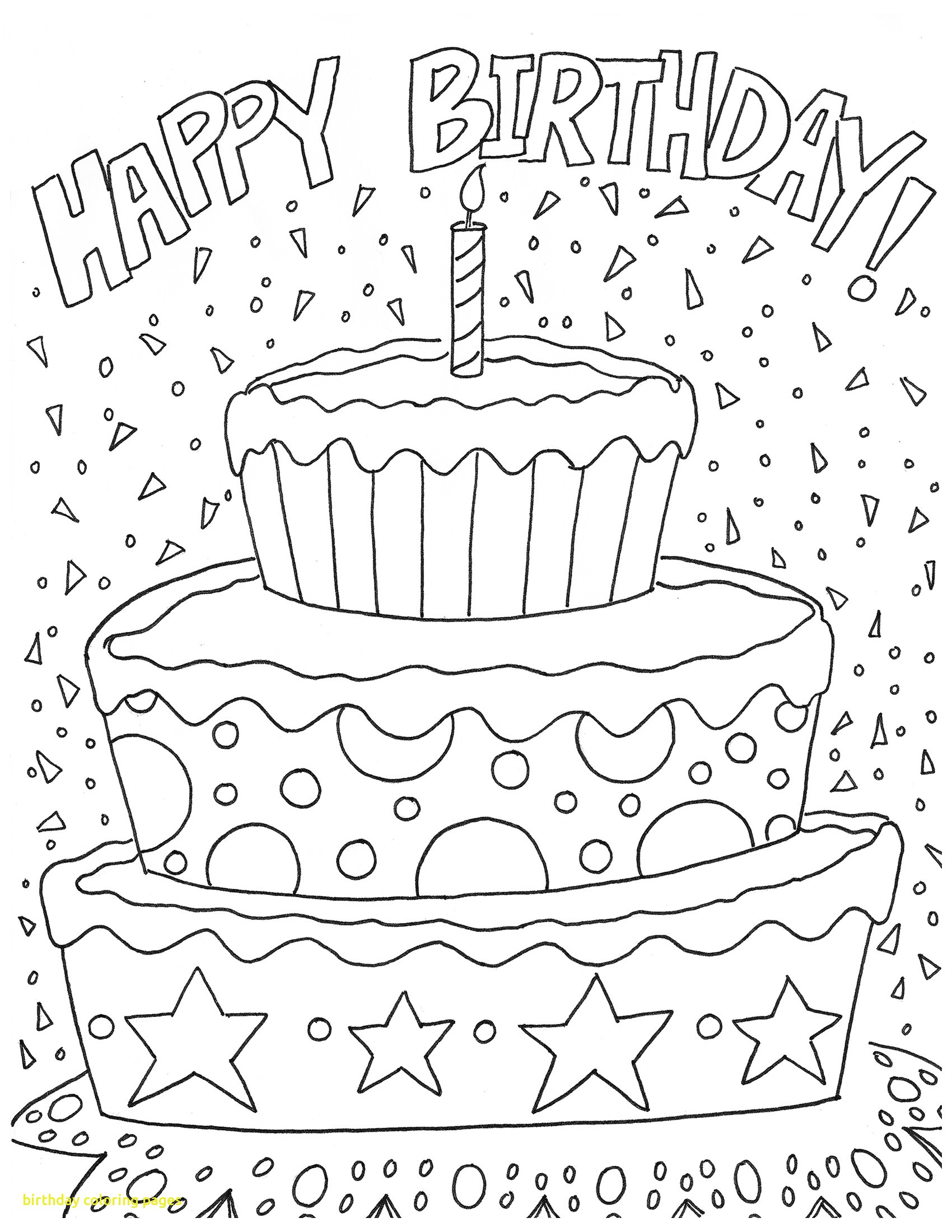 1700x2200 Birthday Coloring Pages With Free Happy Birthday Coloring Page