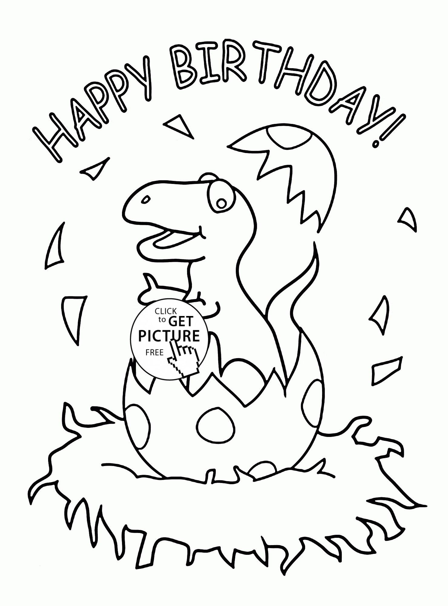1480x2000 Happy Birthday Coloring Pages Free Collection