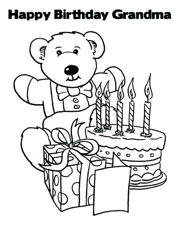 618x800 Happy Birthday Coloring Pages For Adults
